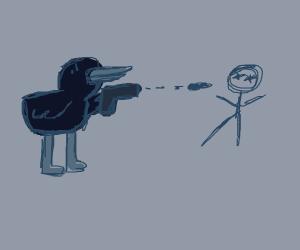 black duck kills stickman