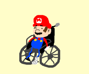 Disabled Mario