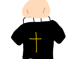 faceless and handless priest