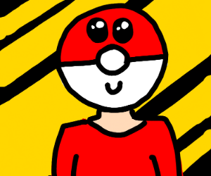 guy with pokeball for head