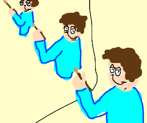 Jon painting himself