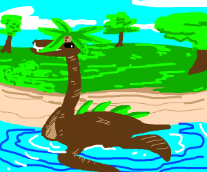A palm tree sea monster hybrid