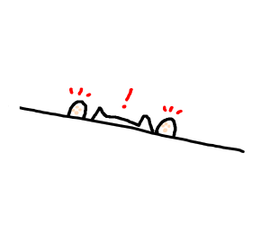 Bongo cat on the verge of falling of a table?