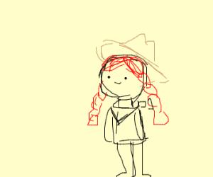 redhead cowboy girl