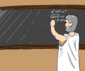 Pythagoras Using His Theorem to Calculate PI