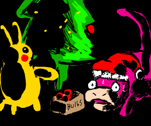 slowpoke is late for christmas