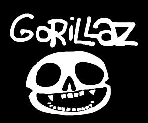 gorillaz skeleton logo - Drawception