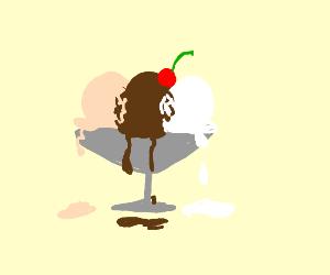 Melting sundae