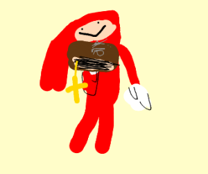 The holy bible and knuckles
