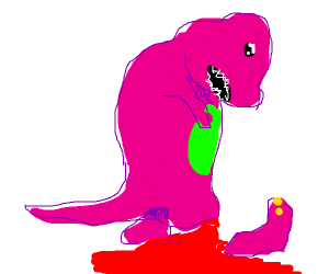 Barney needs first aid
