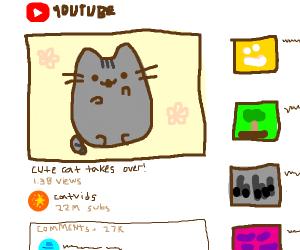 Pusheen Cat in a YouTube video