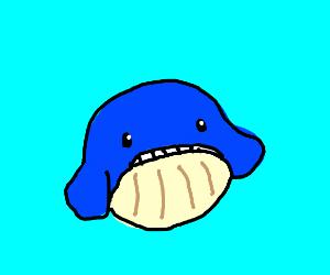 A cute whale