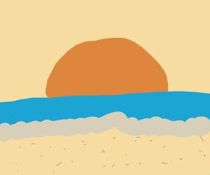 Sun at the beach