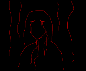 Woman Crying Blood