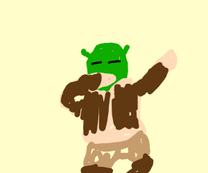 Shrek dabs easily