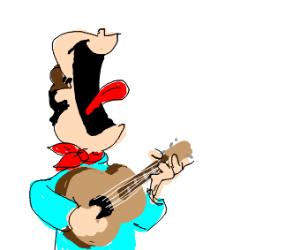 John (Garfield) is a great singer