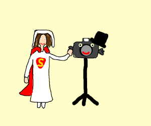 SuperGirl marries a...Camera?