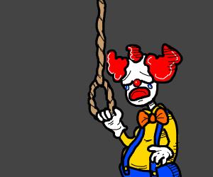 clown killing him self