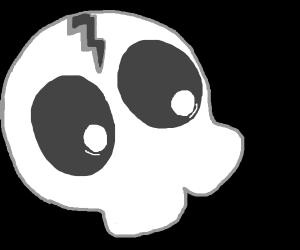 skeleton man smiles threateningly at you