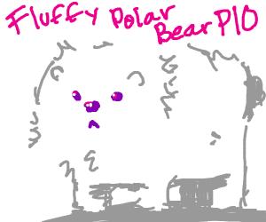 Fluffy White Polar Bear PIO