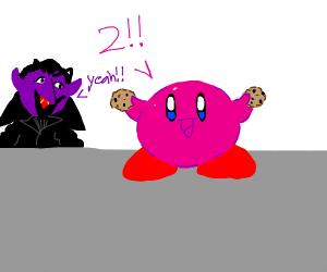 kirby counts 1, 2, cookies!