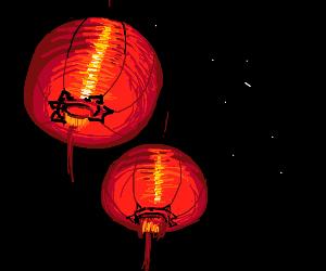 Two chinese lanterns