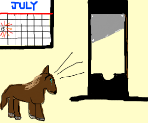 Horse has to be decapitated in mid July.