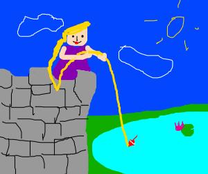 Rapunzel fishing