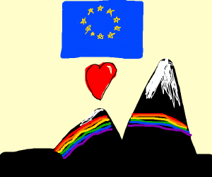 The European Union loves rainbow mountains