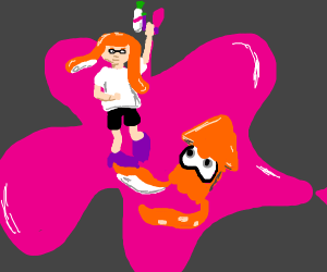 A squid and a kid