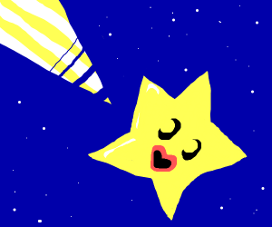 A happy shooting star