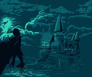 Dementors creeping up on Hogwarts castle