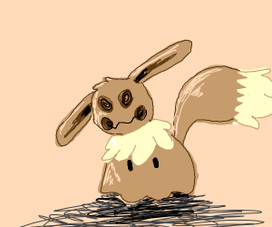 Mimikyu but in an eevee disguise