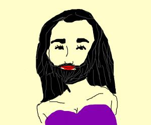 woman with a beard