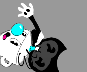 bendy drinking from cuphead