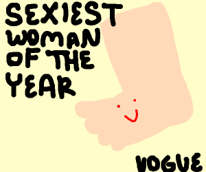 Sexiest woman of the year: A foot