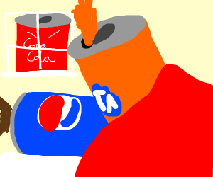 Pepsi cheating on Coca-Cola