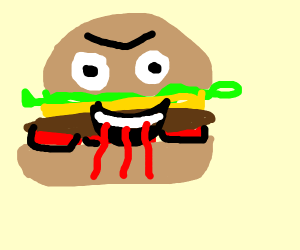 hamburger with blood lust