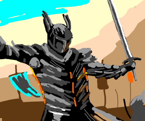 Epic medieval knight