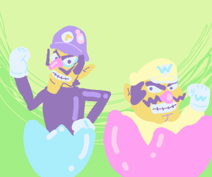 Wario & Waluigi hatched from an egg