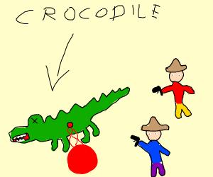 people killed a crocodile