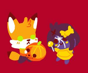 Halloween event mascots
