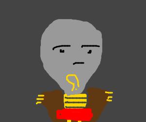 Censored lightbulb