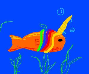 Goldfish unicorn