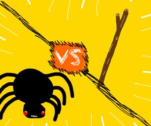 SPODER VS GIANT STICK