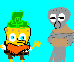 Leprechaun Spongebob harasses Squidward