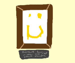 An overly happy painting