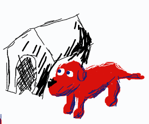 Clifford the generally regular-sized red dog