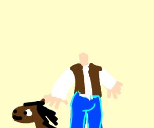 horseman detaches his horse head