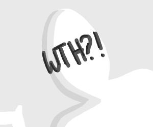 Confused man. Wth?!